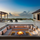 beautiful property over the ocean at sunset